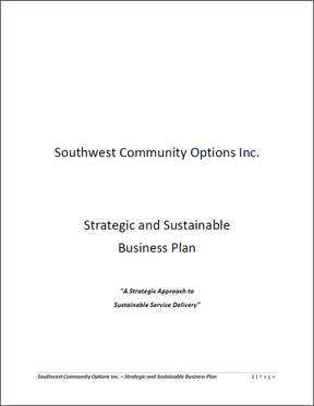 Southwest Strategic and Sustainable Business Plan: A Strategic Approach to Sustainable Service Delivery